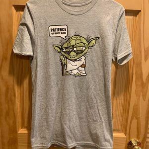 Gray Yoda Star Wars t-shirt